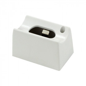 Heitronic Aufbau-Fassung/Sockel S14d für Linienlampe (auch LED) • 230V/AC • Material Kunststoff weiss