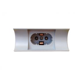 Fassung für Linienlampen / Linestra • Radium 670 • Sockel S14d (Baugleich mit Osram 670) • Kunststoff grau