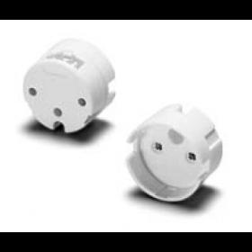 Houben • 101784 • Lampenfassung/Austeckfassung für LED-Röhren Lampen 26mm/Sockel G13 • Farbe weiss