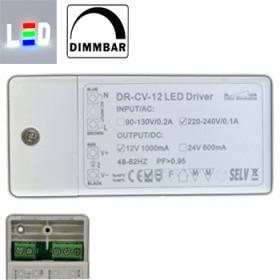 PB Trafo/Treiber für LED P230V/AC - S12V/DC 1000mA • 1-12W / dimmbar  • kleine Abmessungen
