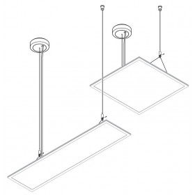 Osram Befestigungs-Set (Seilsystem) für LED Panel • 620/625 • PANEL LED SUSPENSION KIT