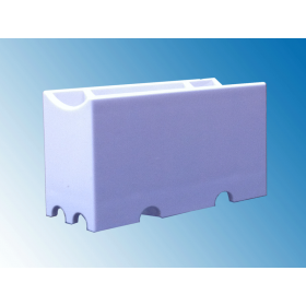 RZB 41401.002 Aufbau-Fassung/Sockel S14d weiss für Linienlampe (auch LED) • 230V/AC • Material Metall/Kunststoff