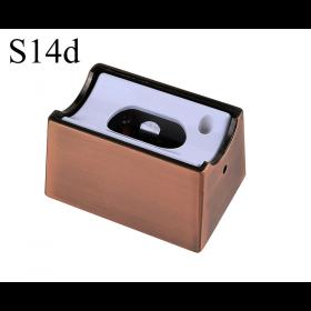 LED Aufbau-Fassung/Sockel S14d • Kupfer/Bronze gebürstet • für Linienlampe (auch LED)  • 230V/AC • max. 60W. •  L70xB46xH40mm