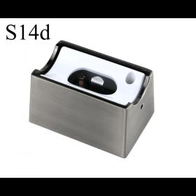 LED Aufbau-Fassung/Sockel S14d Chrom matt • für Linienlampe (auch LED)  • 230V/AC • max. 60W. •  L70xB46xH40mm