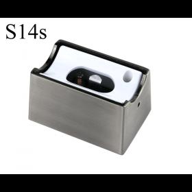 LED Aufbau-Fassung/Sockel S14s Chrom matt • für Linienlampe (auch LED)  • 230V/AC • max. 120W. •  L70xB46xH40mm