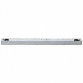 Lichtleiste Heitronic für Linienlampen zwei Sockel S14s • 230V • L=508mm • weiss