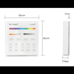 Wandsteuerung 4-Zonen für Industry RGB Strahler und LED Panels - 2,4GHz (RGB+CCT)