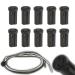 10 Stück (VE) Plastik Sockel/Fassung G4 / GU4 / GU5.3 (MR11, MR16) / G6.35 / GY6.35 - mit 60cm Kabel - für Niedervolt und Hochstrom LED 12V-250V AC/DC Max. 2A, 24Watt_View1