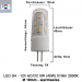 LED G4 12V AC/DC ⌀ 18mm/L49mm 5W (5W = 40W)  2800K  510lm  360° Kunststoff, Keramik_View1