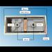 Fassung/Sockel für Linienlampen wie Linestra S14d Gold-Messing-glänzend - Bohrbild Rückseite