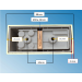 Fassung/Sockel für Linienlampen wie Linestra S14d Chrom gebürstet - Bohrbild Rückseite