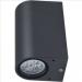 Aussenbeleuchtung mit wechselbaren GU10 Leuchtmittel bis 2x11W bestückbar - für 2 Stück LED