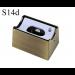 LED Aufbau-Fassung/Sockel S14d Messing gebürstet • für Linienlampe (auch LED)  • 230V/AC • max. 60W. •  L70xB46xH40mm