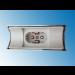 Fassung/Sockel für Linienlampen wie Linestra S14d Chrom gebürstet matt - Ansicht von oben