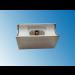 Fassung/Sockel für Linienlampen wie Linestra S14d Chrom gebürstet - Ansicht seitlich