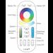 Fernbedienung 4-Zonen für Industry RGB Strahler mit Anleitung