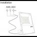 RGB Strahler Installation