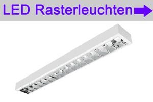 Startseite Übersicht LED Spiegelrasterleuchten