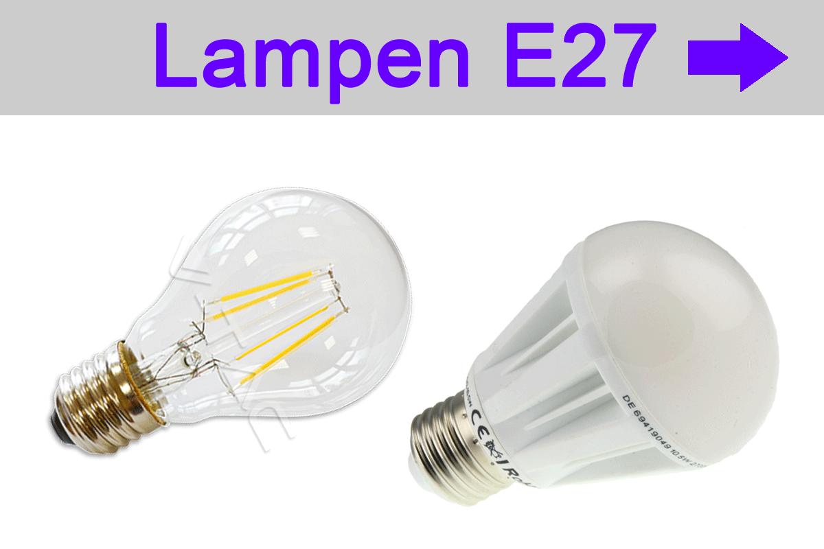 LED Lampen E27 - LED bulb - Glühfadenlampen