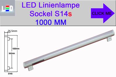 LED Linienlampen Linestra Philinea Ersatz Sockel S14s Länge 1000mm