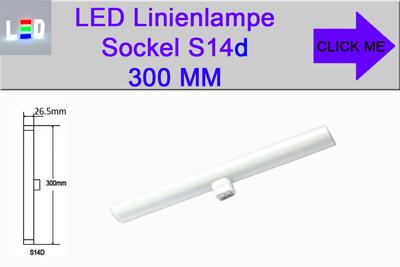 LED Linienlampen Linestra Philinea Ersatz Sockel S14d Länge 300mm