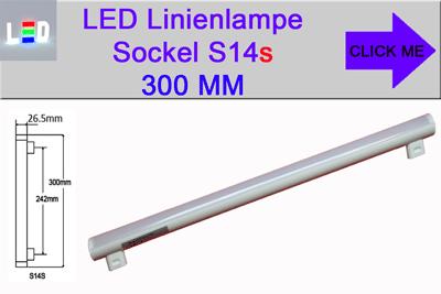 LED Linienlampen Linestra Philinea Ersatz Sockel S14s Länge 300mm
