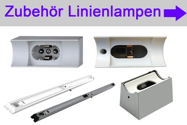 Zubehör Linienlampen Linestra Philinea accessory line lamps