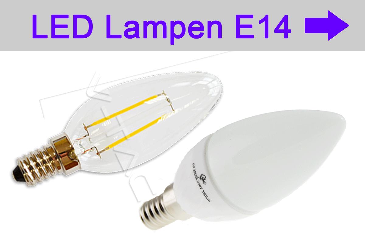 LED Lampen E14 - LED bulb E14 - Glühfadenlampe